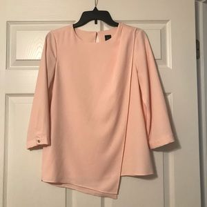 The Limited pale pink 3/4 sleeve work shirt